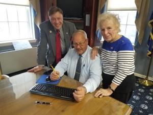 Meeting with Freeport Mayor Robert T Kennedy